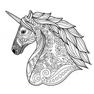 Mandalas De Unicornios Colorear Para Adultos