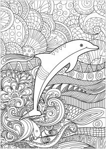 Delfine 37226 Delfine Malbuch Fur Erwachsene