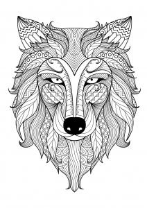 Wolf Malvorlagen Malbuch Fur Erwachsene