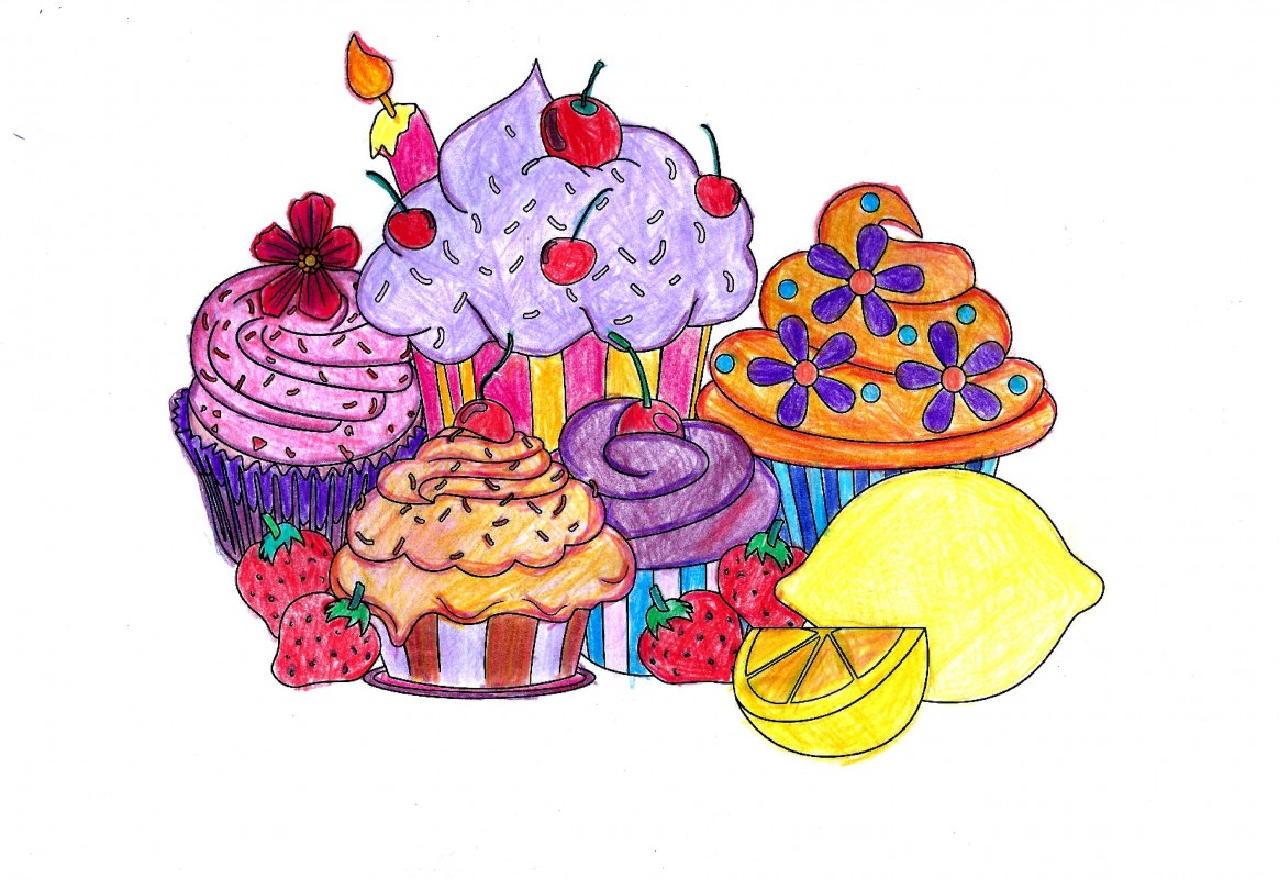 Creation by myrsinou, coloring page from the gallery Cupcakes and cakes