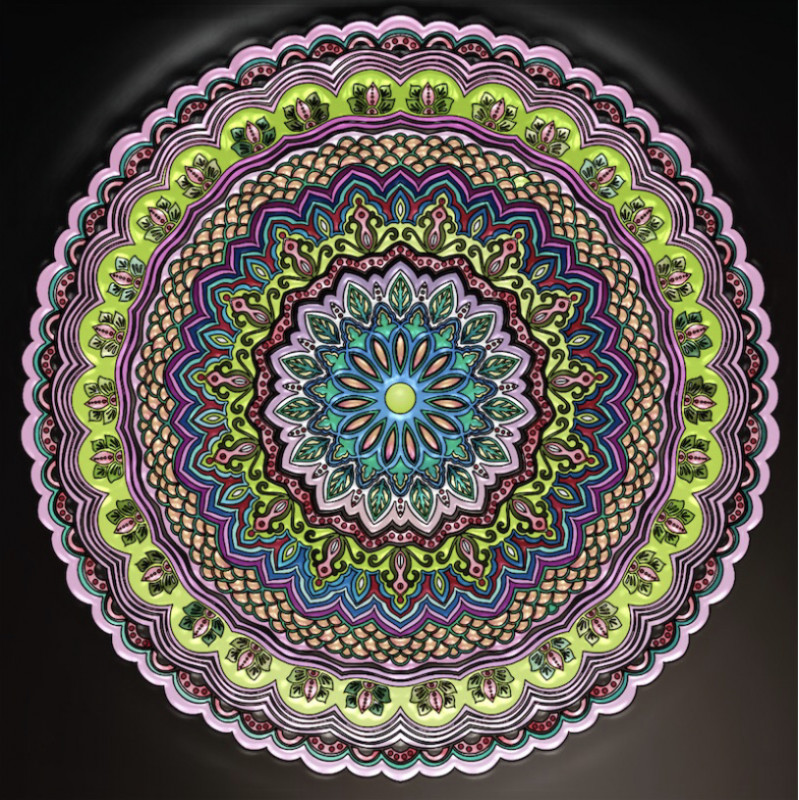 Creation by anjelikas8, coloring page from the gallery Mandalas