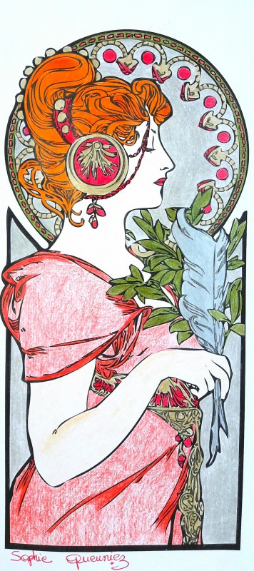 Creation by sophie-queuniez, coloring page from the gallery