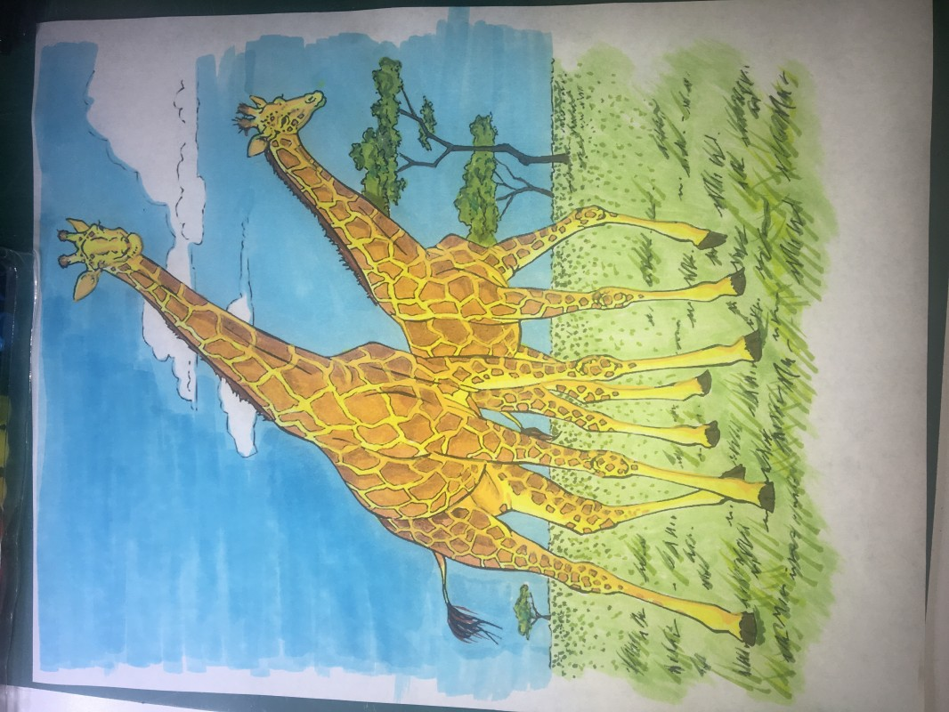 Creation by daniarg, coloring page from the gallery Giraffes