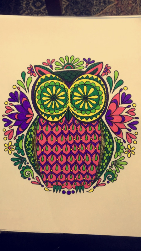 Creation by fedoo84, coloring page from the gallery Owls