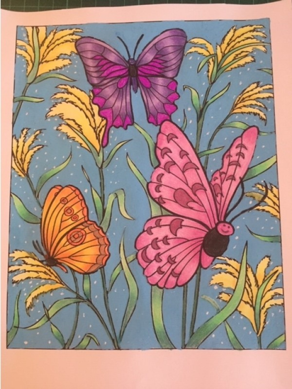 Creation by sandy, coloring page from the gallery Butterflies & insects