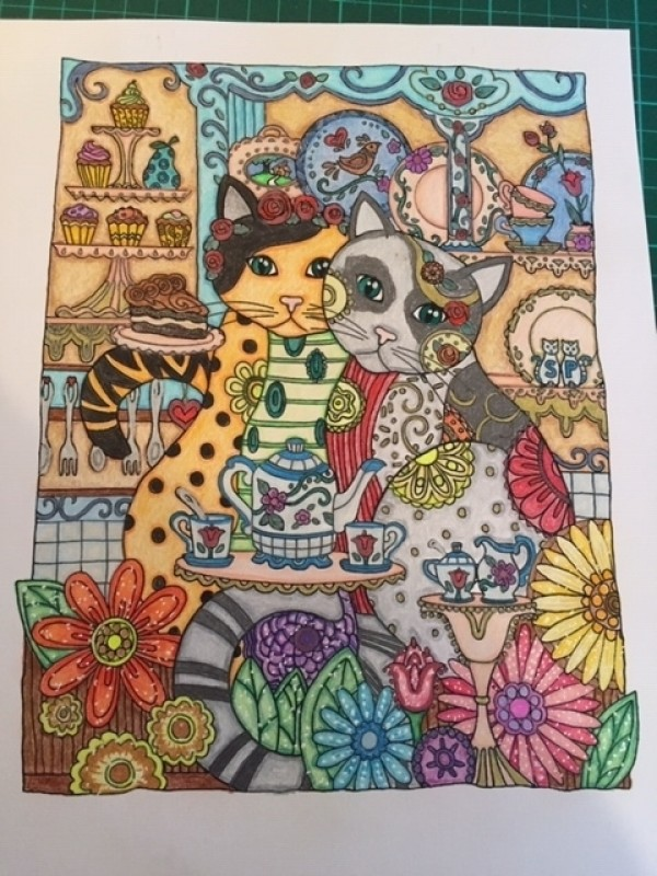 Creation by sandy, coloring page from the gallery Cats