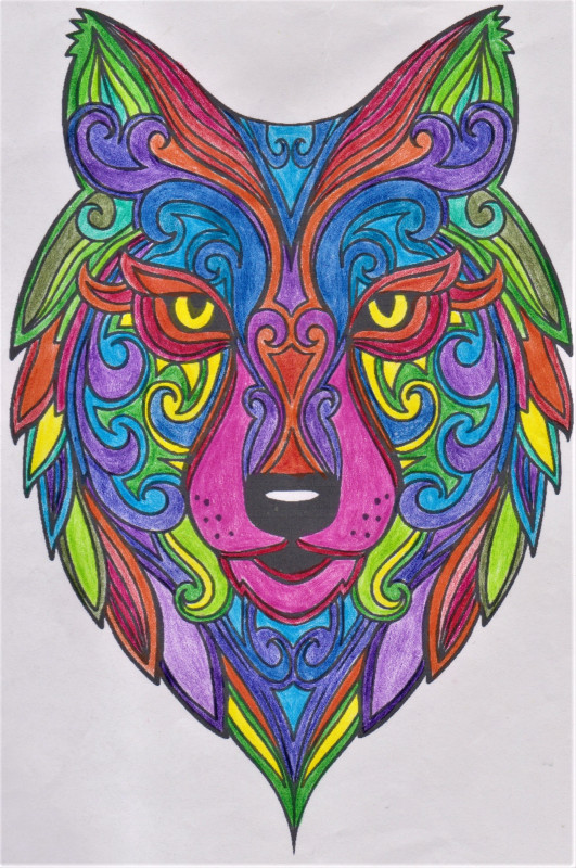 Creation by amaelphoenix, coloring page from the gallery Wolves
