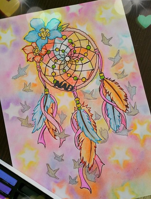 Creation by nad63, coloring page from the gallery Dreamcatchers