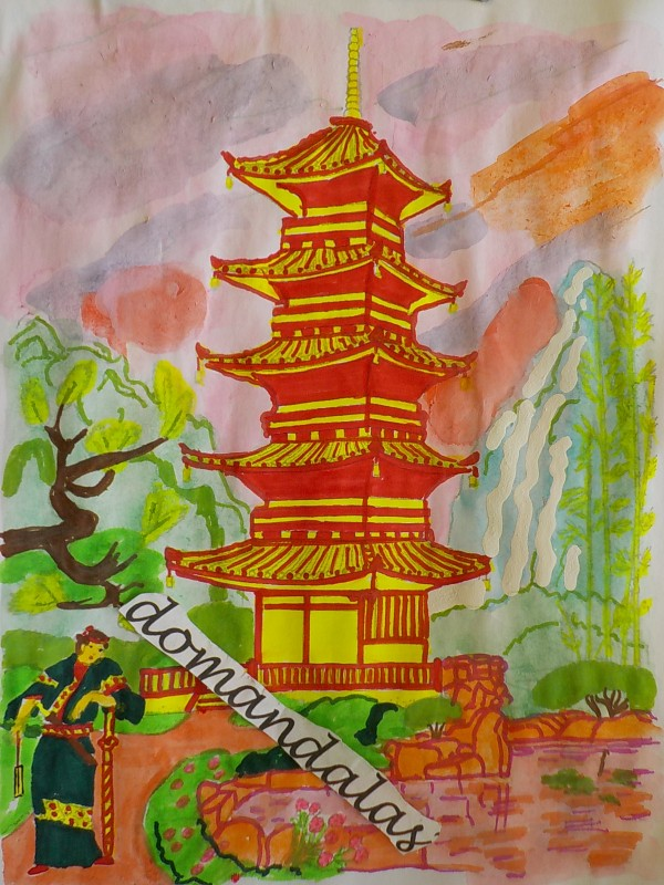 Creation by domandalas3bis, coloring page from the gallery China & Asia