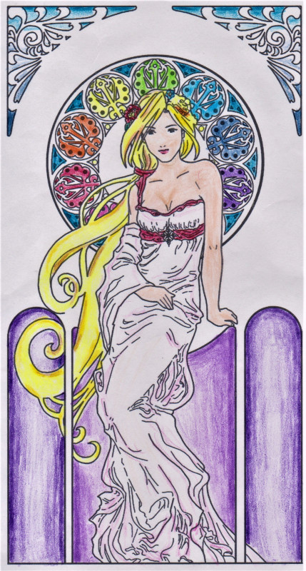 Creation by amaelphoenix, coloring page from the gallery Art Nouveau