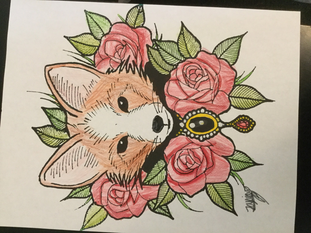 Creation by hellopeoplez, coloring page from the gallery Foxes