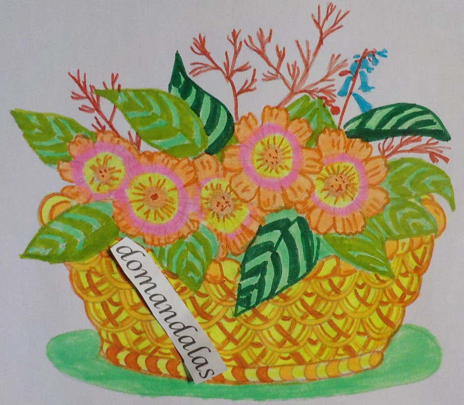 Creation by domandalas4bis, coloring page from the gallery Flowers & vegetation