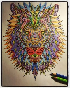 Difficult Lion Head Animals Coloring Pages For Adults